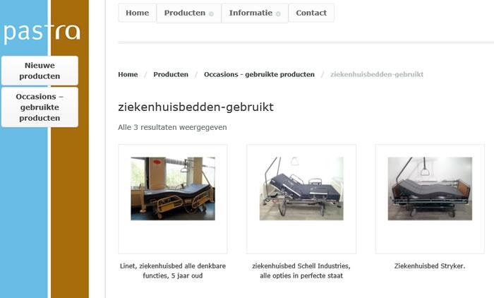 ziekenhuisbed wordpress website webwinkel