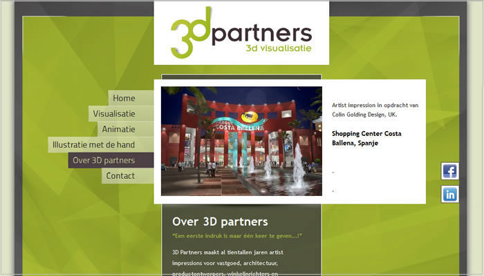 3D partners PSD naar WordPress template Moergestel