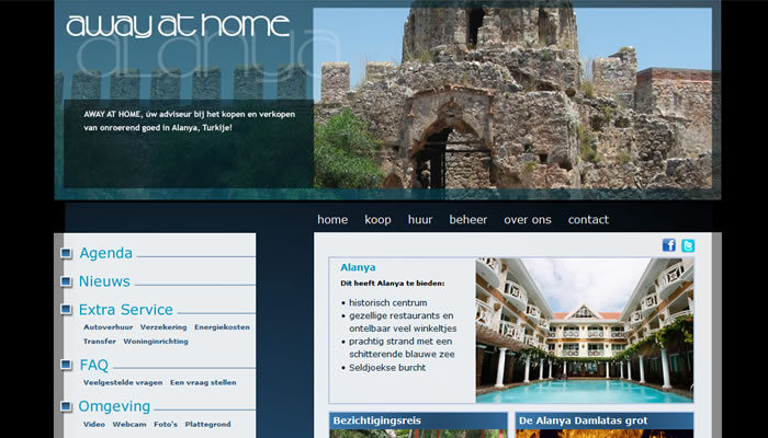 Awayathome.nl Custom Post Types vernieuwde website